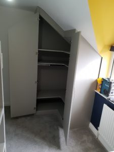 under eaves wardrobe in build